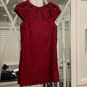 Burgundy red cutout dress